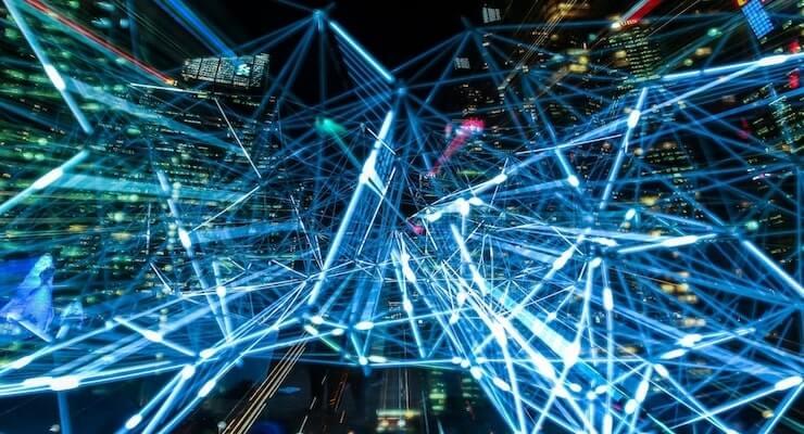 visuele vertoning van 5G netwerk