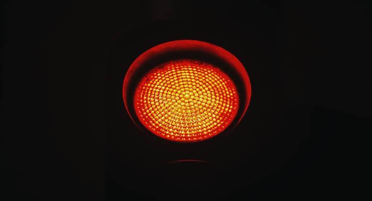stoplicht op rood
